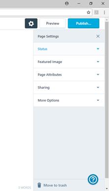 wordpress page publish