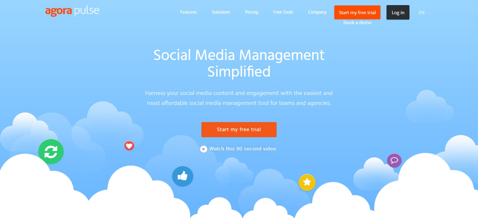 Simple Affordable Social Media Management Agorapulse