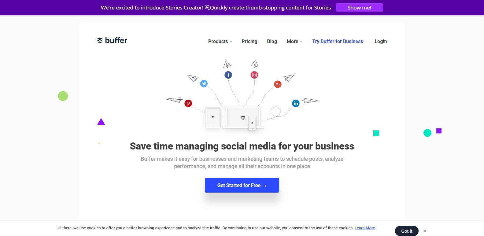 Social Media Management Platform Buffer