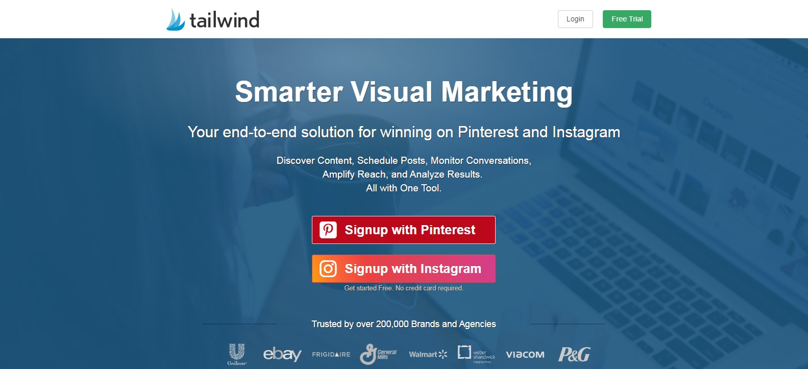 Tailwind - Pinterest Instagram Scheduler social media Marketing Tool