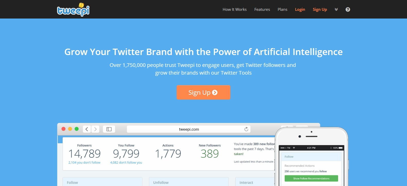 Tweepi - Get More Twitter Followers