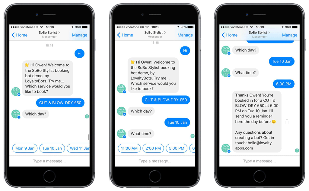 Chatbot in Website Development