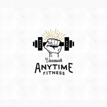 Anytime Fitness trainer logo design