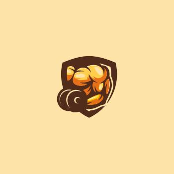 Gym trainer logo design