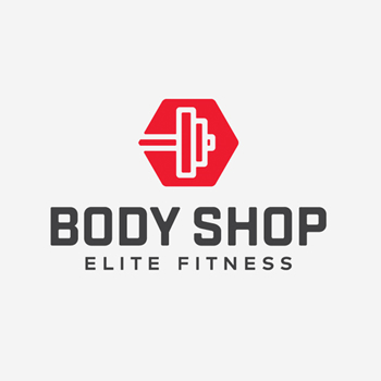 Body shop fitness trainer logo