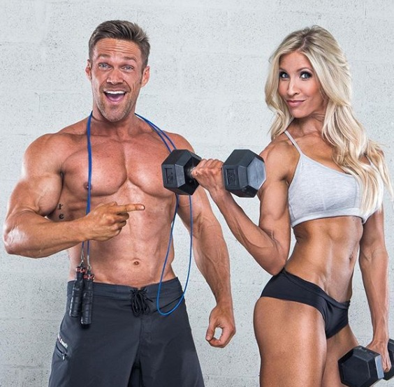 Chris and Heidi Powell - Couple fitness influencer