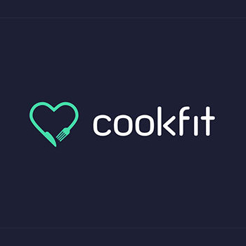 Cookfit fitness trainer logo