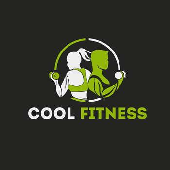 Cool fitness trainer logo