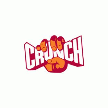 Crunch Gym trainer logo design
