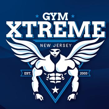 Xtreme Gym trainer logo design