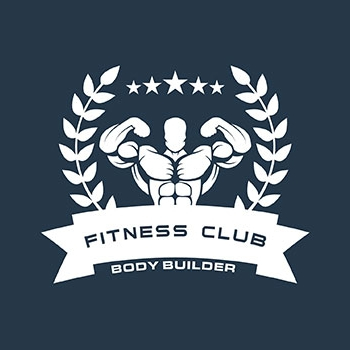 Fitness club trainer logo