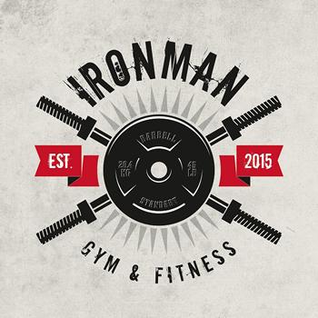 Iron man Gym trainer logo design
