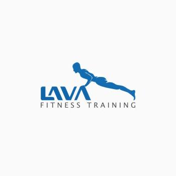 Lava Fitness trainer logo design