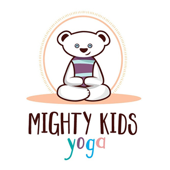 Mighty kids yoga trainer logo design