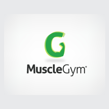 Muscle Gym trainer logo design