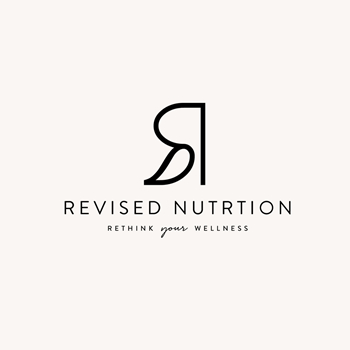 Revised Nutrition fitness trainer logo design