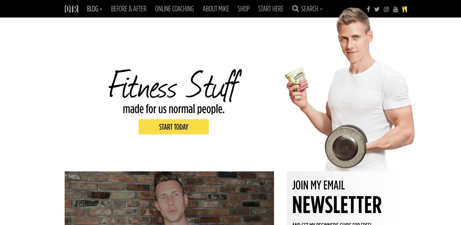 On The Regimen Fitness websites