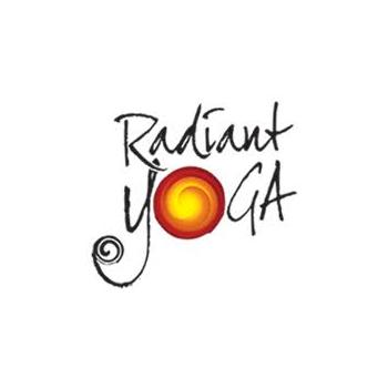 Radiant yoga trainer logo design