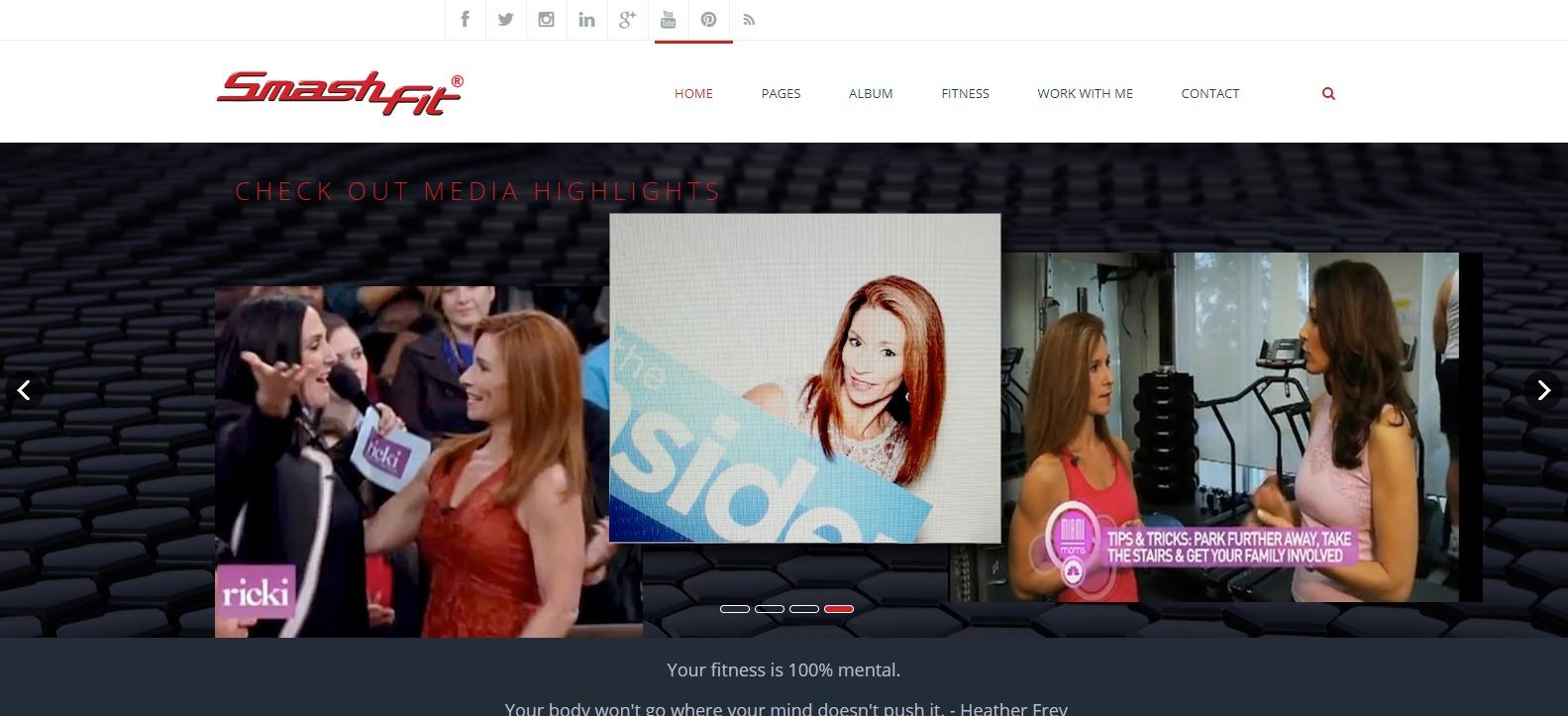 Smashfit online fitness website
