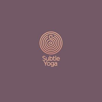 Subtle yoga trainer logo design