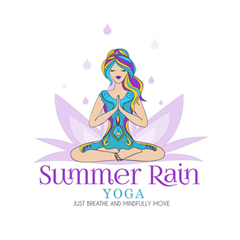 Summer Rain yoga trainer logo design