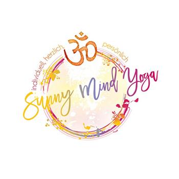 Sunny mind yoga trainer logo design