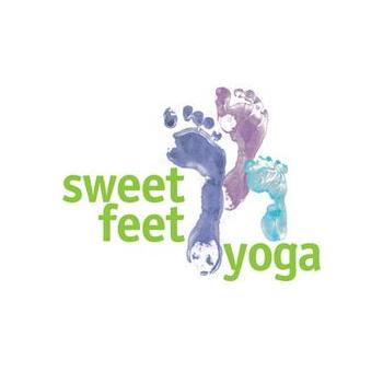 Sweet feet yoga trainer logo design