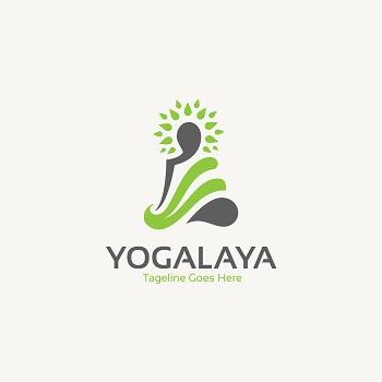 Yogalaya yoga trainer logo design