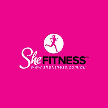 She Fitness women trainer logo design