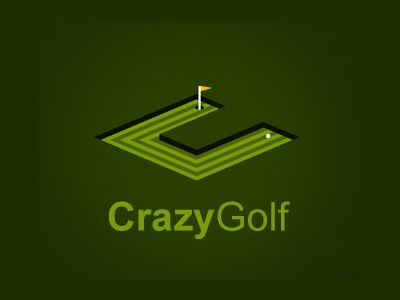 Crazy Golf logo designs