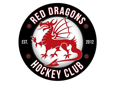 Red Dreagon Hockey logo designs