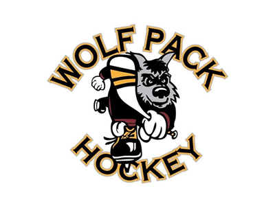 Wolf Pack Hockey logo designs